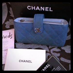 Blue Chanel wallet/pouch